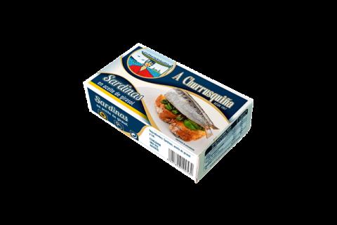 sardinas en aceite girasol caja 4-6 piezas rr-125