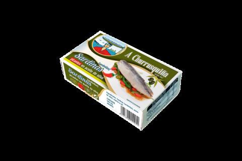 sardinilla picantes en aceite de oliva lata blanca rr-125