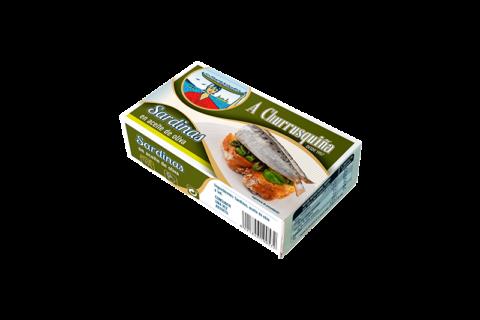 sardinas 4-6 pz. aceite oliva lata rr-125